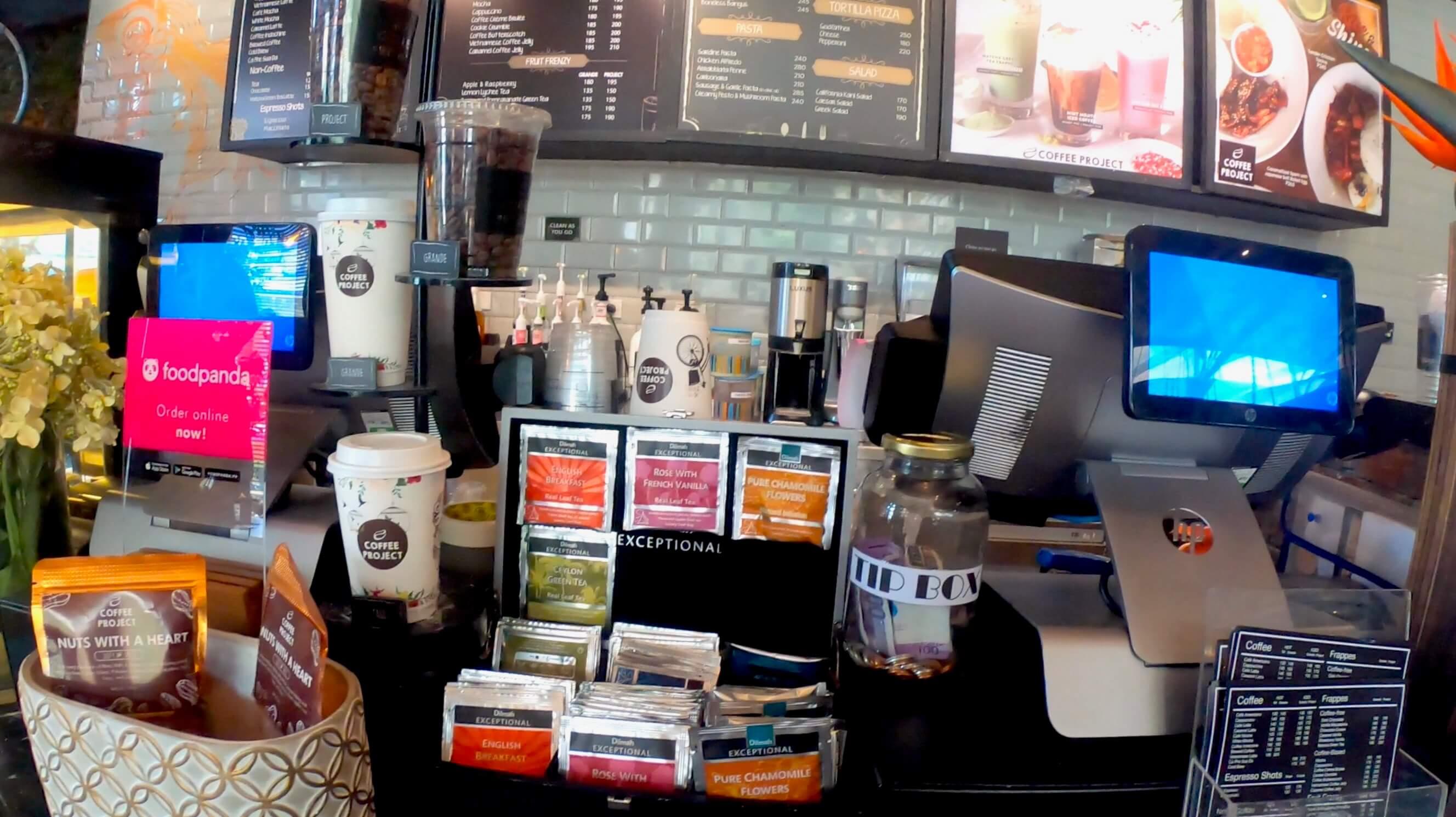 コーヒープロジェクトのレジ